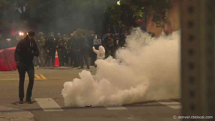 Denver Police Fire Tear Gas, Foam Projectiles At Protesters Sunday Night