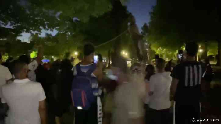 WATCH protesters deface, tear down Confederate statue in Birmingham, Alabama