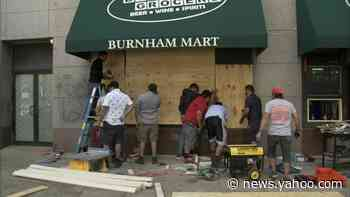 Chicago George Floyd protests: Businesses board up after day of rallies turns violent; at least 6 shot, 1 killed