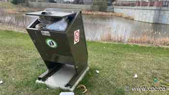 Chestermere contactless garbage bins making mess, resident says - CBC.ca