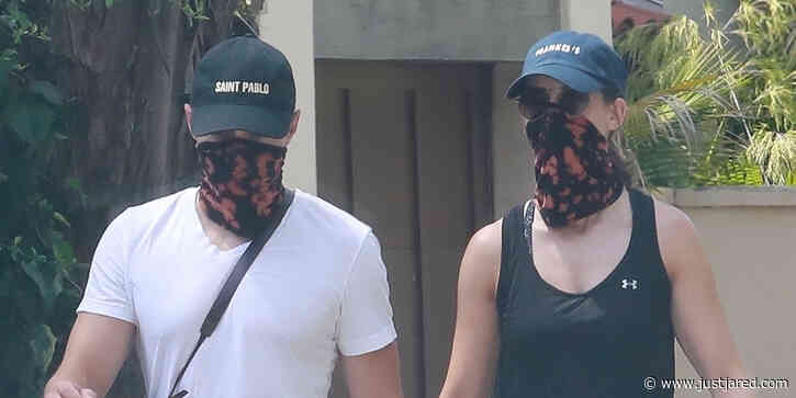Alison Brie & Husband Dave Franco Hold Hands & Wear Matching Masks During Walk