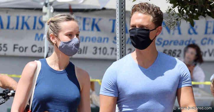 Brie Larson & Boyfriend Elijah Allan-Blitz Color Coordinate for Trip to Farmer's Market