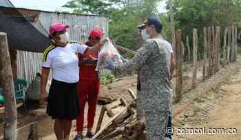 Armada Nacional entrega ayudas humanitarias en los Montes de María - Caracol Radio