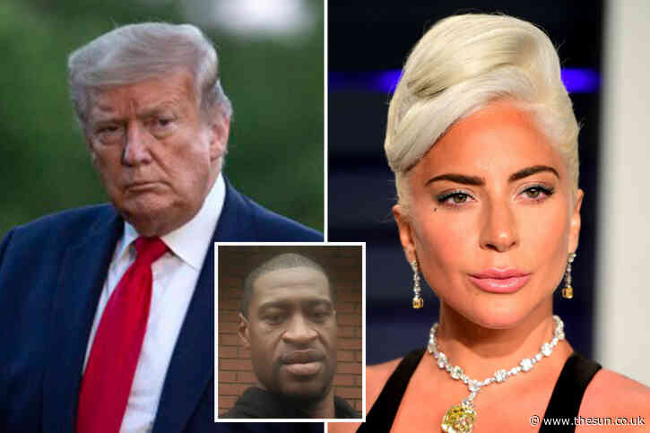 Lady Gaga attacks Donald Trump branding him a 'racist' and 'a fool' over George Floyd's death