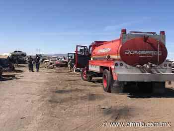 Reportan fuerte incendio en la salida a Delicias - Omnia
