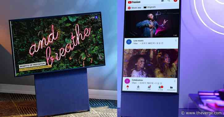 Samsung's rotating mobile-friendly TV goes on sale for $1,999