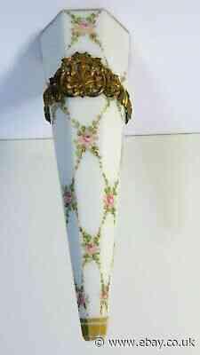 Antique Vase Vase Of Car IN Bracket Porcelain Mount Bronze