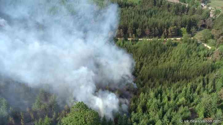 Drone Footage Shows Extensive Damage as Fire Burns on English Moor
