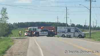 Motorcyclist airlifted in critical condition after collision in Innisfil