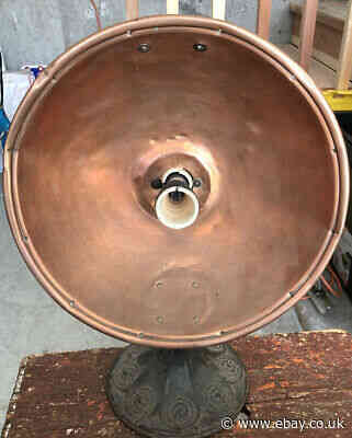 The Gold Seal Electric Co Antique Copper Heater With Metal Base