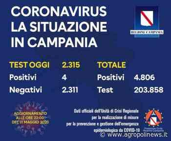 CAMPANIA,SALE A 4806 IL NUMERO DEI CONTAGI - Sergio Vessicchio