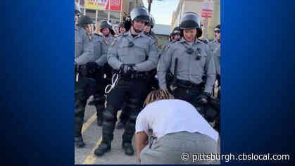 'I'm Not Mad At You, I'm Mad At The Ones That Are Doing It To Us:' Pittsburgh Protester's Kind Gesture Goes Viral