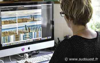 Gujan-Mestras : une graphiste réalise des décors à partir de photos du bassin d'Arcachon - Sud Ouest