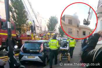 Fire in Lansdowne Place, Hove, near Western Road