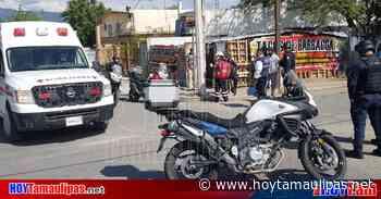 Tumban a Policía Estatal de moto en Ciudad Victoria - Hoy Tamaulipas
