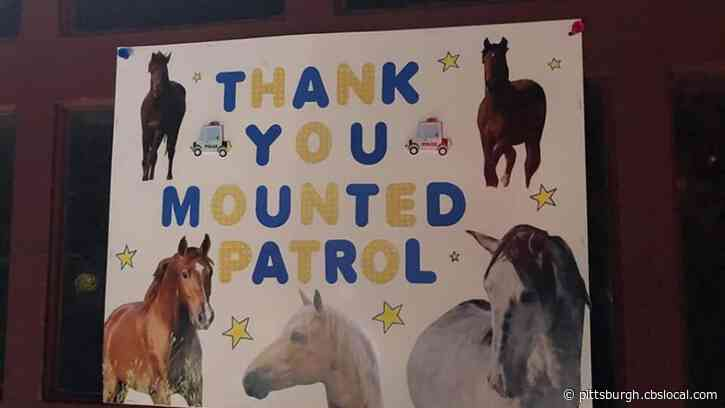 'Heartwarming': Pittsburgh Police Mounted Unit Returns From Peaceful Protests Turned Violent To Find Kind Gestures From The Community