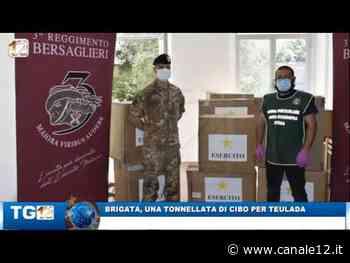 BRIGATA SASSARI, UNA TONNELLATA DI CIBO PER TEULADA - Canale 12