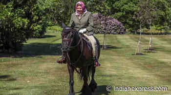 Queen Elizabeth spotted riding horse as UK eases Covid-19 restrictions - The Indian Express