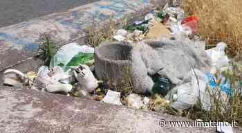 Napoli: la discarica di piazza Principe Umberto, tra aiuole rinsecchite e cumuli di bottiglie - Il Mattino