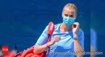 'Weird' playing without fans, but good to be playing again: Kvitova - Times of India