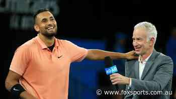 Coaching Nick Kyrgios would be a 'no-brainer': John McEnroe - Fox Sports