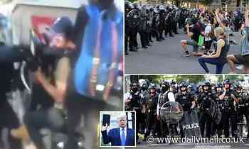Cameraman punched by police and tear gas used during Washington George Floyd protest