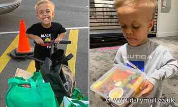 Bullied dwarf Quaden Bayles does his bit for struggling Australians as he hand deliveries groceries