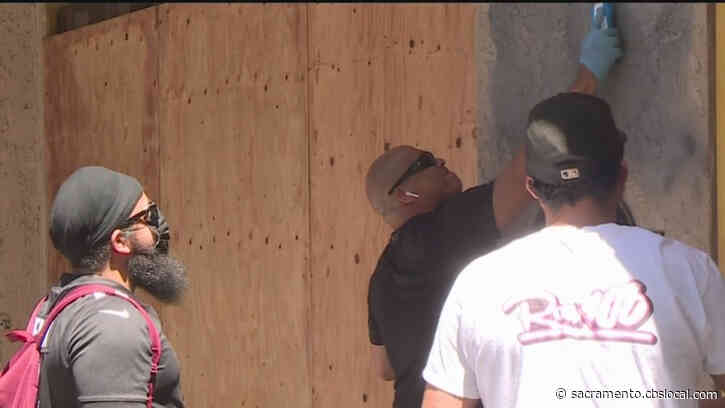 Volunteers Help Cleanup In Downtown & Midtown Sacramento Following Looting, Vandalism