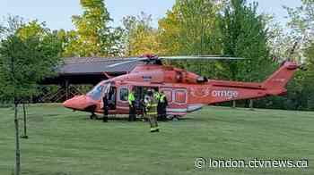 Person falls down embankment in Lambton Shores Sunday morning - CTV News London