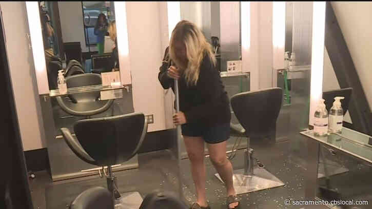 Sacramento Salon Reopening Derailed By Vandals