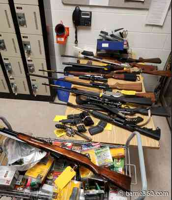 Slew of guns seized by OPP from a Barrie residence on Monday – Barrie 360 - Barrie 360