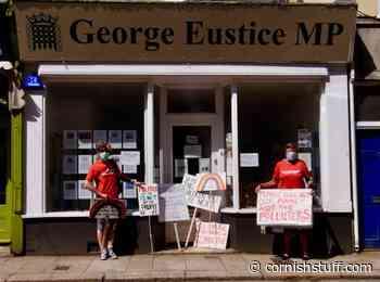 Environment Bill protest at Eustice office | | - Cornish Stuff