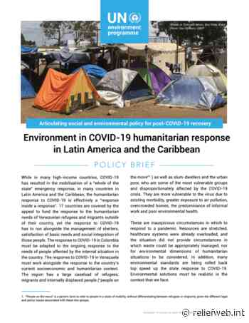 Environment in COVID-19 humanitarian response in Latin America and the Caribbean - World - ReliefWeb