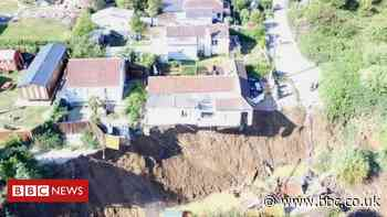 Eastchurch cliff fall: House hanging over edge after second collapse