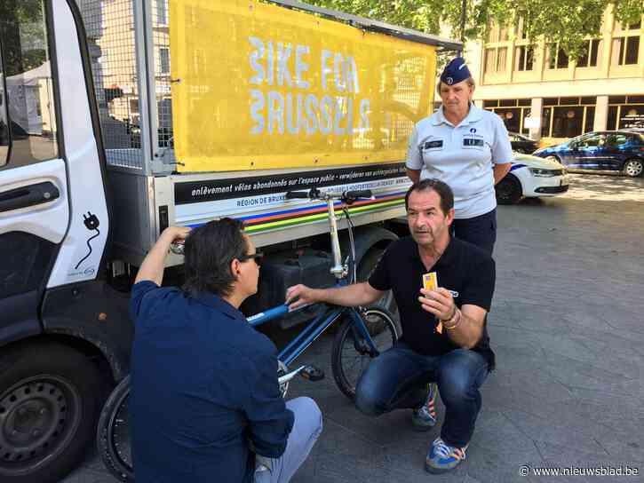 11.000 eigenaars vinden fiets terug dankzij MyBike.brussels-sticker