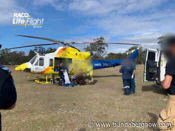 Motorcyclist airlifted after colliding with wallaby – Bundaberg Now - Bundaberg Now