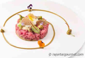 Ricetta Battuta di Scamone podolico con crema di pistacchi, caprino e tartufo bianco | Chef Gennaro Esposito - Reporter Gourmet