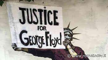 """""""Giustizia per George Floyd"""": al villaggio Olimpico la nuova opera di Harry Greb"""