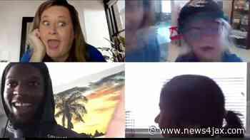 Jax Beach kindergarten teacher gets memorable end-of-year video call - WJXT News4JAX