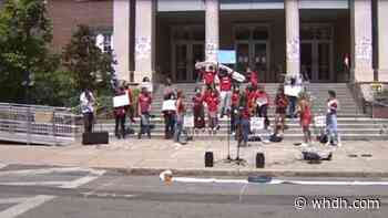 Brookline students protest teacher, staff layoffs - Boston News, Weather, Sports | WHDH 7News
