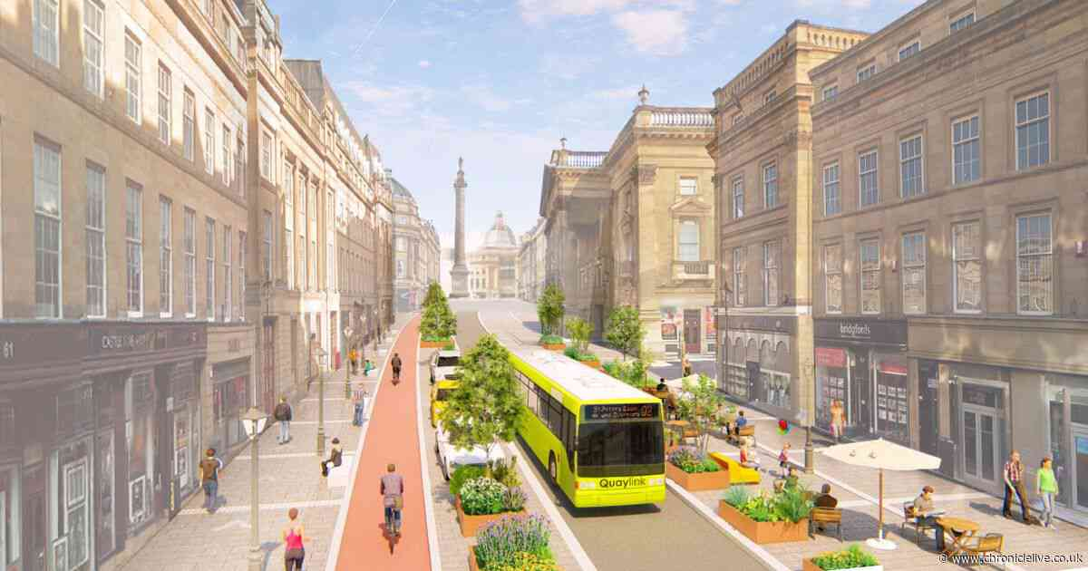 When the huge redesign of Grey Street is likely to start