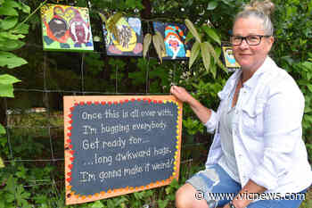 North Saanich artist brightens pandemic with whimsical signs - Victoria News