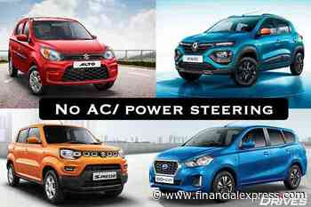 Cars on sale without power steering and AC: Maruti Suzuki Alto 800 and others - The Financial Express