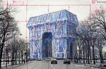 L'ultima opera d'arte di Christo: impacchettare l'Arco di Trionfo a Parigi - Fanpage.it