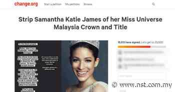 Petition to strip former Miss Malaysia Universe of crown and title - New Straits Times