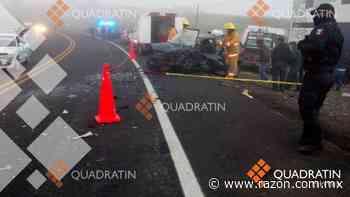 Mueren tres personas en choque en carretera Toluca-Zitacuaro - La Razon