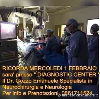 Neurochirurgia, il Dottor Emanuele Gozzo al Diagnostic Center – mercoledì 1 febbraio| Martinsicuro - Ultime - CityRumors.it