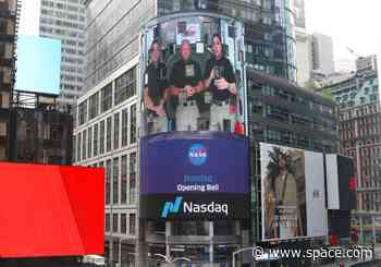 Astronauts ring Nasdaq opening bell from space after historic SpaceX launch