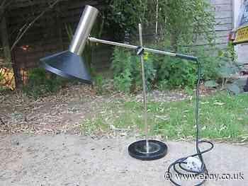 Vtg Gura 70s 60s table lamp Modernist Atomic  Eames Retro table desk Poisable