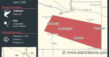 Tornado reported southwest of Mankato as storms roll through Minnesota